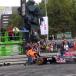 Verstappen clouts barrier in first public F1 drive
