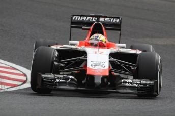 Jules Bianchi's Marussia during practice at Suzuka