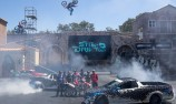 Race drivers meet stunt drivers at Movie World