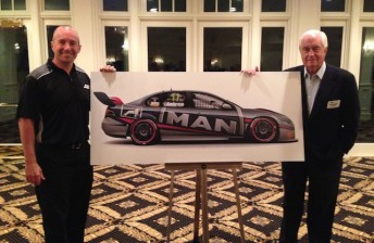 Ambrose shows off Penske V8 Supercar livery
