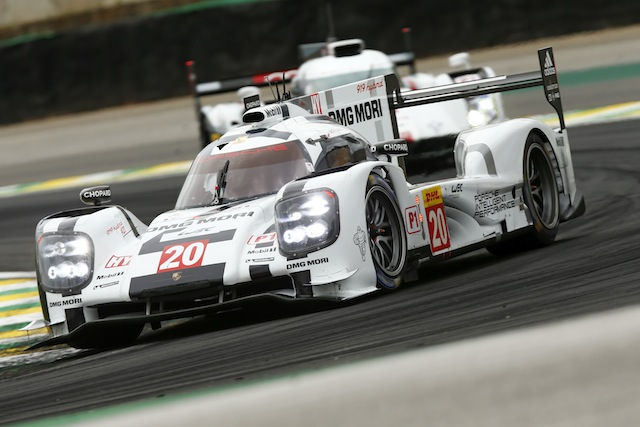 Mark Webber and Timo Bernhard lead the #20 to pole at the final WEC round in Brazil