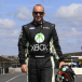 Heat on Marcos Ambrose at Lakeside ride day