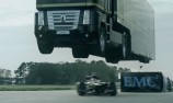 VIDEO: Incredible F1 car and truck stunt