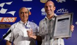 Ambrose accepts Sir Jack Brabham Award