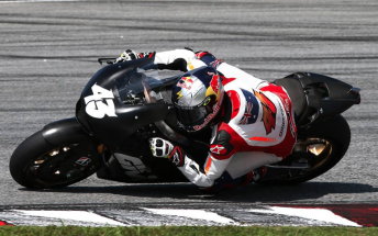 Jack Miller aboard the LCR Honda during a test at Sepang late last year