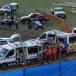 Speedcar driver hospitalised after violent crash