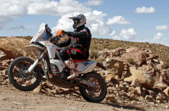 Toby Price on his way to third on Stage 11 of the Dakar Rally