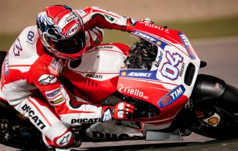 Ducati's Andrea Dovizioso during the final pre-season test at Qatar