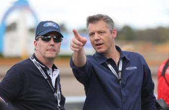 Graziano and V8 Supercars CEO James Warburton
