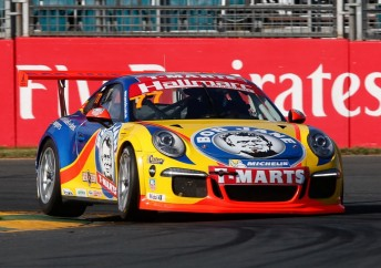 McBride led from the front in the opening Carrera Cup race
