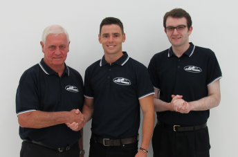 Pye, pictured here with Johnson and Story, will be entrusted with the #17 Ford