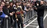 Lotus F1 at Brands Hatch. Romain Grosjean.