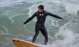 Rick Kelly hits the waves with pros
