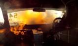 VIDEO: Driver escapes Sports Sedan fire
