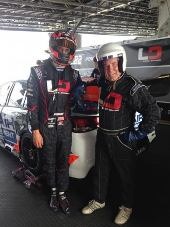 Rosenberg went for a hotlap with Percat at the recent AGP meeting. pic via facebook