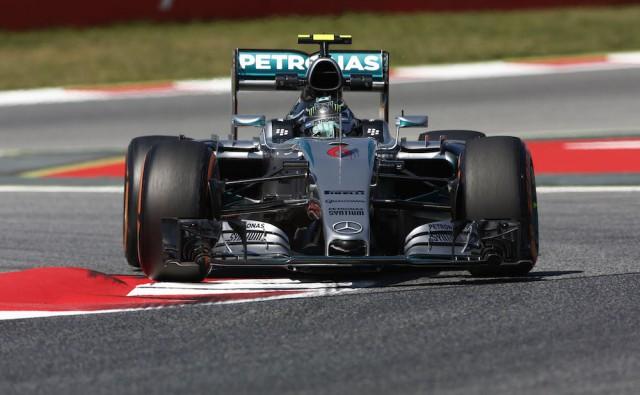 Nico Rosberg on his way to pole position at Barcelona