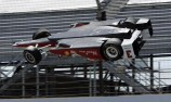 Castroneves flips during Indy practice