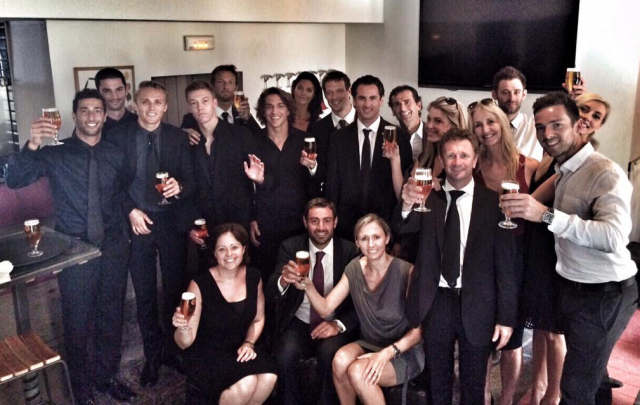 """Daniel Ricciardo posted this  image following the funeral with the message """"For Jules"""""""