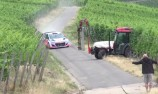 VIDEO: WRC star in tractor near miss