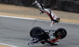 Lorenzo on pole despite major crash