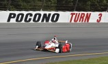 Kimball in huge crash as Castroneves earns pole