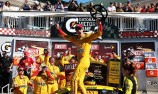 Logano wins fuel race at the Glen