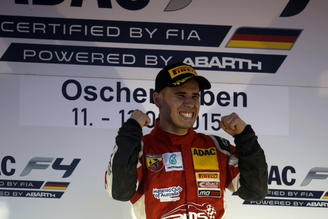 Joey Mawson has kept his German F4 hopes alive with final race victory at Oschersleben