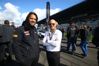 Stephane Ratel and Ben Franassovici (right) met with Tony Quinn and AGT category manager Ken Collier at the Nurburgring last weekend