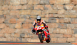 Marquez crashes his way to record Aragon pole