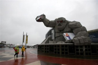 Nothing but rain at 'The Monster Mile'