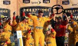 Logano spins Kenseth for Kansas victory