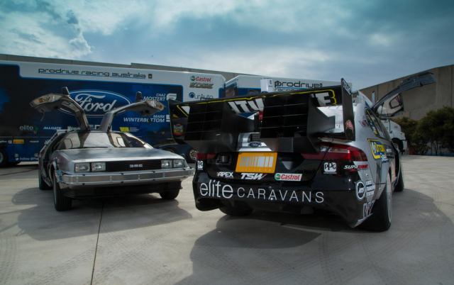 The custom build 'thrusters' add further to the DeLorean look