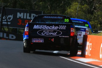 Matt Stone Racing's George Miedecke and Ryal Harris at the Bathurst 1000 event