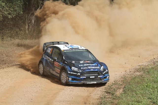 Mikko Hirvonen at Rally Australia last year
