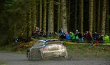 Ogier heads muddy Rally GB