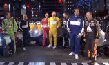 VIDEO: NASCAR stars race Jimmy Fallon