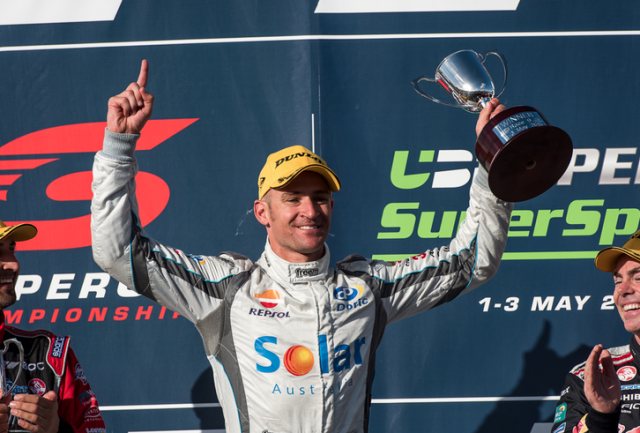 Davison took his first and only win for Erebus in thrilling circumstances