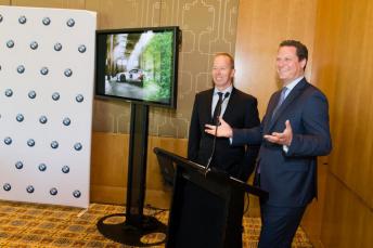 Steven Richards and BMW Australia CEO Marc Werner