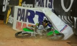 VIDEO: Clint Bowyer crashes at Supercross