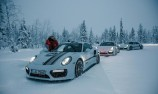 Carrera Cup drivers sample ice driving experience
