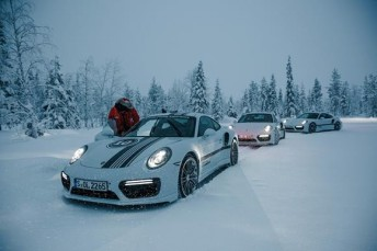 A group of Australian Carrera Cup drivers have undertaken a Porsche Driving Experience Challenge on frozen lakes in Finland