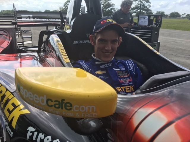 Matthew Brabham has undergone a seat fitting for his important Sebring IndyCar test