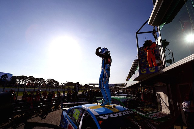 Master of all he surveys … Scott McLaughlin on top of his game at Phillip Island