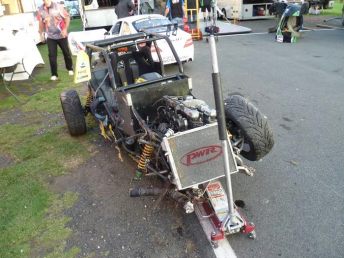 The wreckage of Chris Stevenson's car