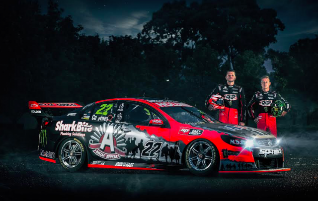 Courtney and Tander with HRT's ANZAC livery