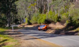 VIDEO: Quinn 'goes banking' at Targa Tasmania
