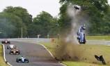 British F3 driver unscathed after huge crash