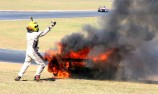 Sports Racer escapes fiery QR incident