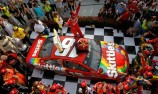 Kyle Busch skittles the opposition at Indy