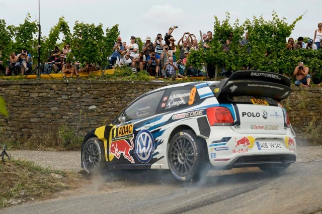 Andreas Mikkelsen on the charge in Germany